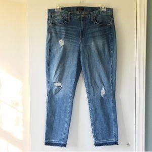 J Crew Vintage Straight Eco Distressed Jeans